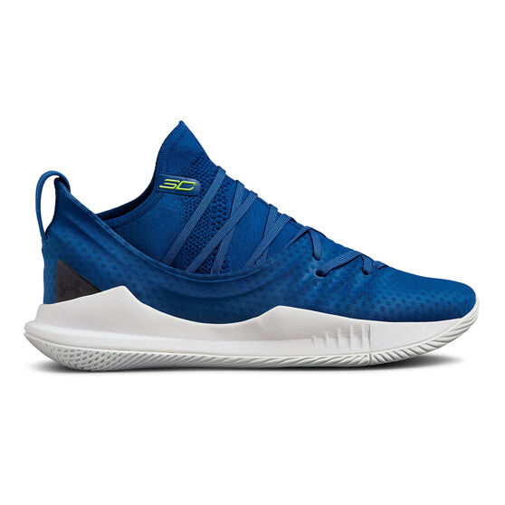 Under Armour Curry 5 Mens Basketball Shoes, Blue, rebel_hi-res