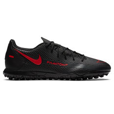 Nike Phantom GT Club Touch and Turf Boots Black/Grey US Mens 7 / Womens 8.5, Black/Grey, rebel_hi-res