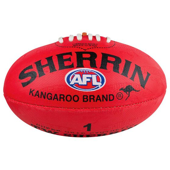 Sherrin Synthetic AFL Football Red 1, , rebel_hi-res