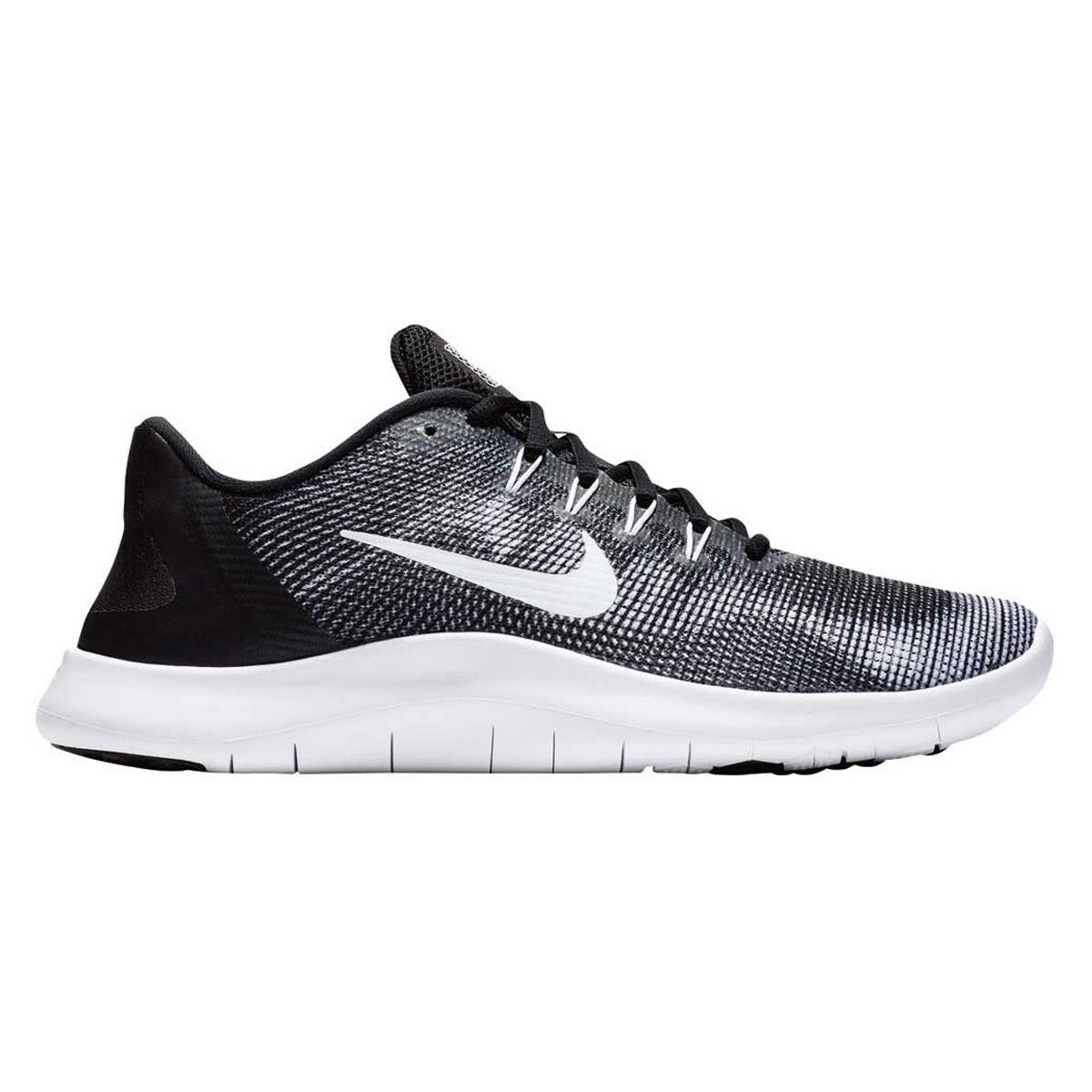 nike flex rn 2018 mens running shoes black white