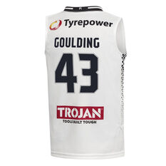 Melbourne United Chris Goulding 2019/20 Away Home Jersey White 6, White, rebel_hi-res