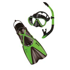 Mares Bonito X One Snorkel Set Lime / Black S / M, Lime / Black, rebel_hi-res