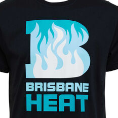 Brisbane Heat 2019/20 Mens Supporter Tee Black S, Black, rebel_hi-res