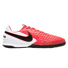 Nike Tiempo Legend VIII Academy Indoor Soccer Shoes Black / Red US Mens 7 / Womens 8.5, Black / Red, rebel_hi-res