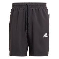 adidas Mens 3-Stripe Chelsea Shorts Black XS, Black, rebel_hi-res