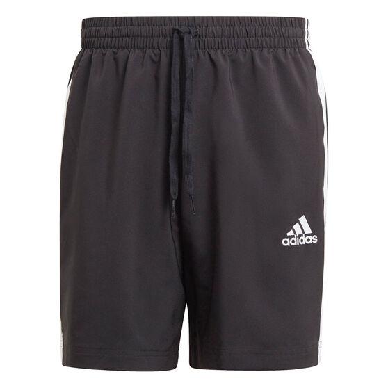 adidas Mens 3-Stripe Chelsea Shorts, Black, rebel_hi-res