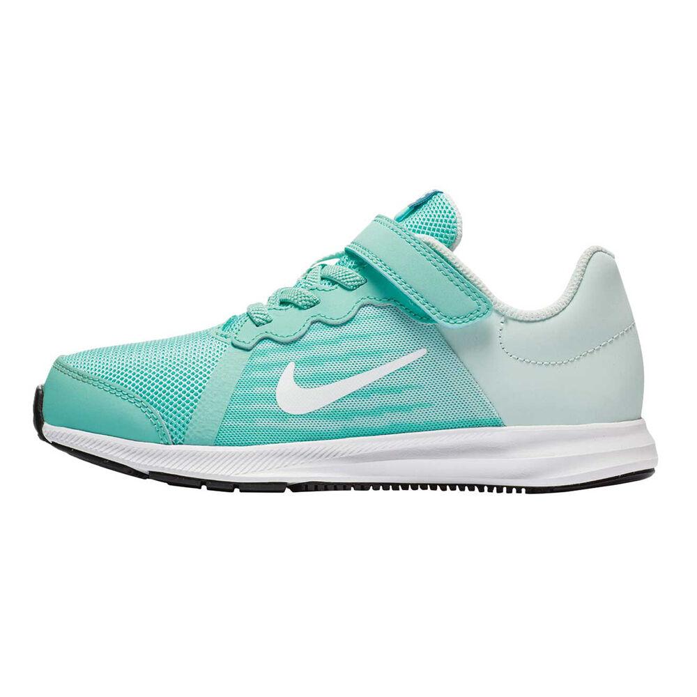 4fcf0c04d92 Nike Downshifter 8 Junior Girls Running Shoes Green   White US 2 ...