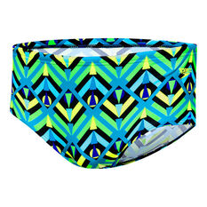 Speedo Mens Squad Trunk Blue / Green 10, Blue / Green, rebel_hi-res