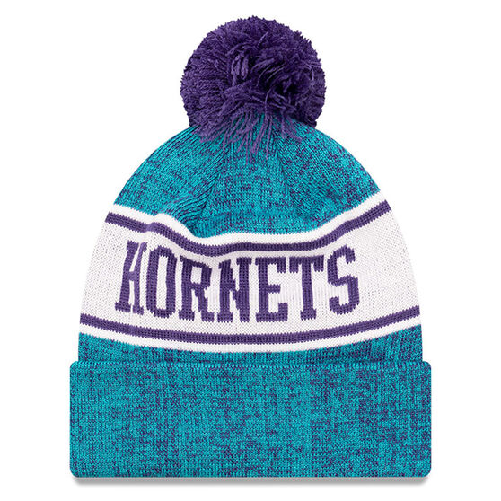 Charlotte Hornets New Era Pom Knit Beanie, , rebel_hi-res