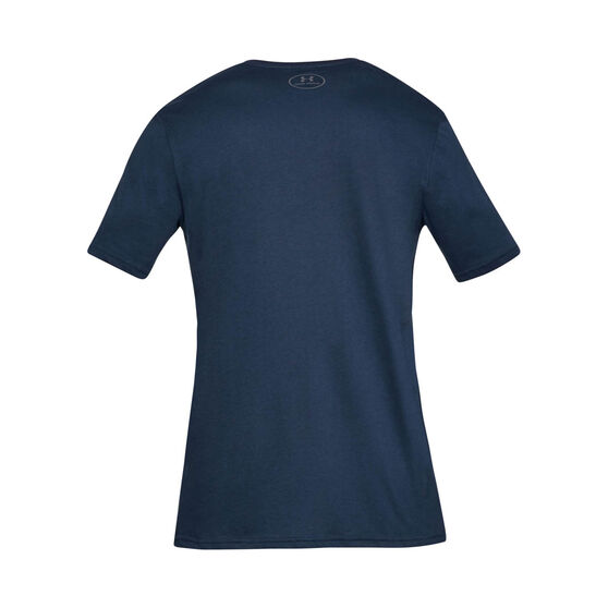 Under Armour Mens VT Sportstyle Logo Tee, Navy, rebel_hi-res