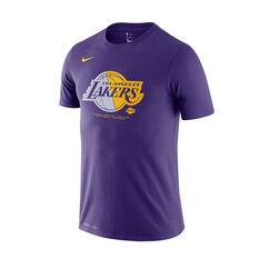 Los Angeles Lakers Mens Dry Logo Tee Purple S, Purple, rebel_hi-res