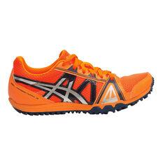 Asics Gel Firestorm 3 Boys Track and Field Shoes Orange / Silver US 13, Orange / Silver, rebel_hi-res