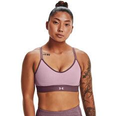 Under Armour Womens Infinity Low Sports Bra, Purple, rebel_hi-res