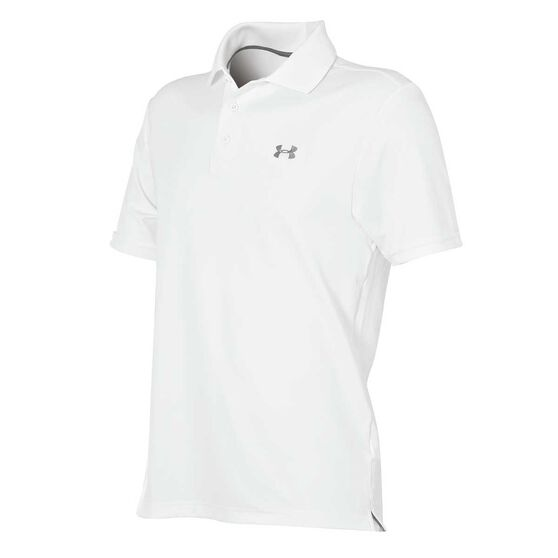 Under Armour Mens Performance Polo Shirt, White, rebel_hi-res