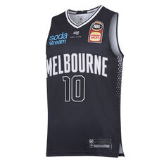 Melbourne United Mitch McCarron 2019/20 Mens Home Jersey Navy S, Navy, rebel_hi-res