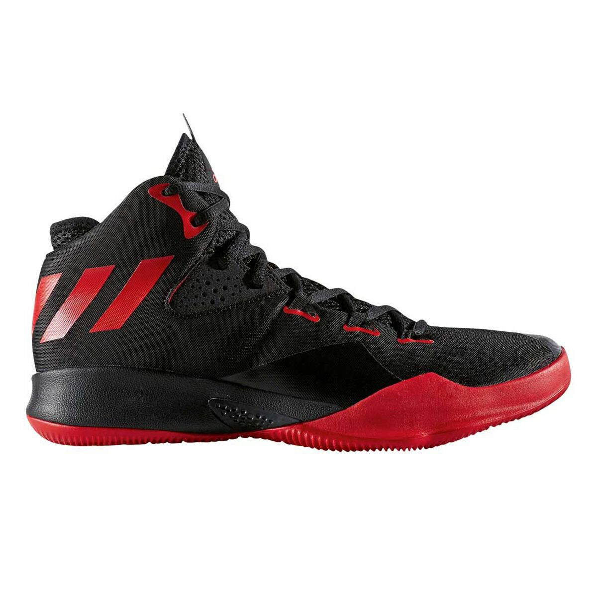 adidas Dual Threat Mens Basketball Shoes Red Black US 10