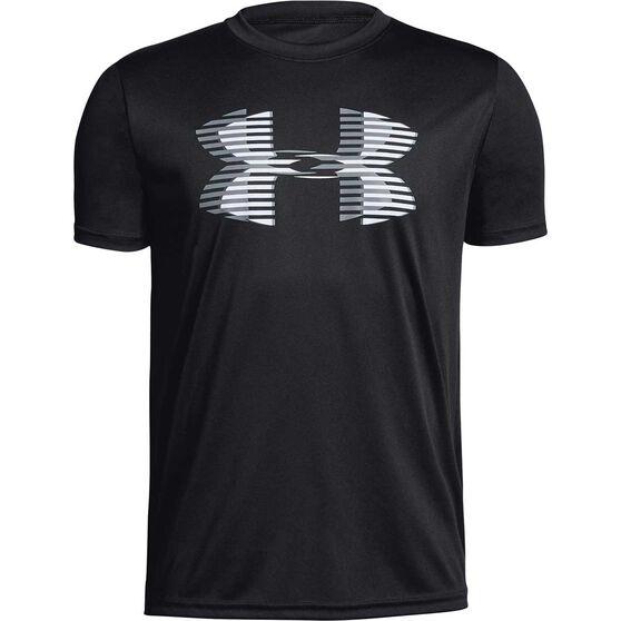 Under Armour Boys VT Tech Big Logo Tee, Black / White, rebel_hi-res