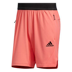 adidas Mens HEAT.RDY Training Shorts Red S, Red, rebel_hi-res