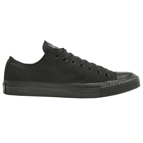 Converse Chuck Taylor All Star Low Casual Shoes, Black / Black, rebel_hi-res