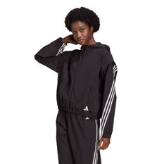 adidas Womens Aeroready Windbreaker, Black, rebel_hi-res