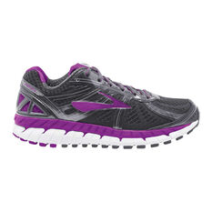 Brooks Ariel 16 Womens Running Shoes Black / Purple US 6, Black / Purple, rebel_hi-res