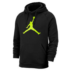Nike Mens Jordan Jumpman Fleece Pullover Hoodie Black XS, Black, rebel_hi-res