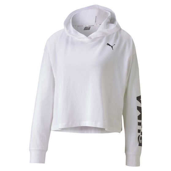 Puma Womens Essential Modern Sports Cover Up Hoodie, White, rebel_hi-res