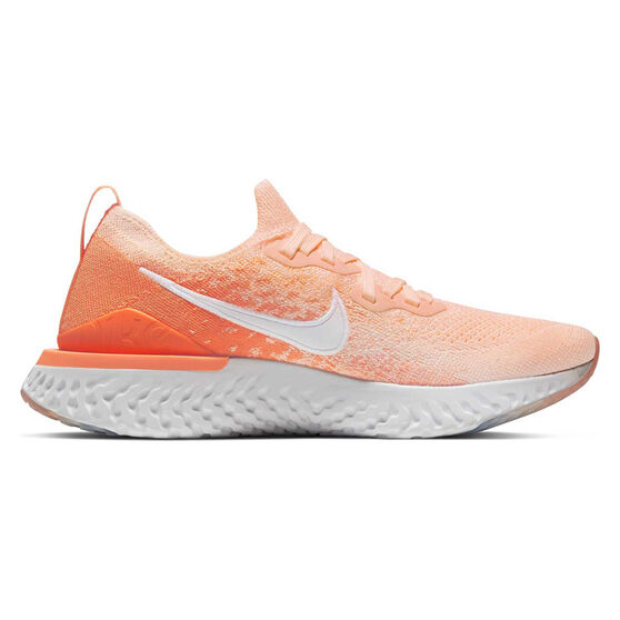 Nike Epic React Flyknit 2 Womens Running Shoes, Coral / White, rebel_hi-res
