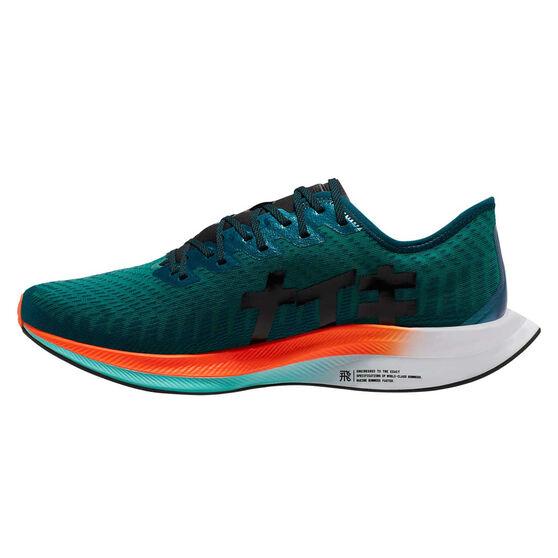 Nike Zoom Pegasus Turbo 2 Hokane Mens Running Shoes, Green / Black, rebel_hi-res