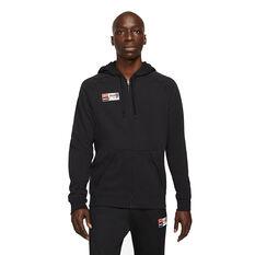 Nike FC Mens Full Zip Soccer Hoodie Black S, Black, rebel_hi-res