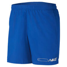 Nike Mens Air Challenger 7in Running Shorts Blue M, Blue, rebel_hi-res