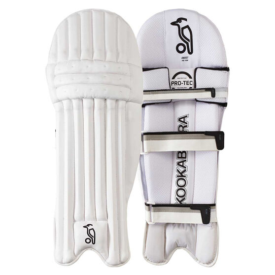 Kookaburra Ghost Pro 1500 Cricket Batting Pads White Right Hand, White, rebel_hi-res