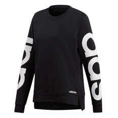 c5737ce92 adidas Womens Essentials Season Branded Sweatshirt Black   White XS