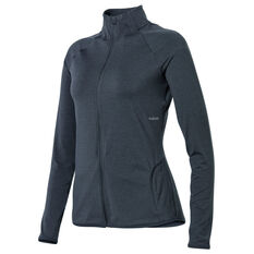 Ell & Voo Womens Amelia Full Zip Top Black XXS, Black, rebel_hi-res