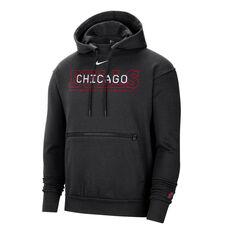 Chicago Bulls Courtside Nike Mens Hoodie Black S, Black, rebel_hi-res