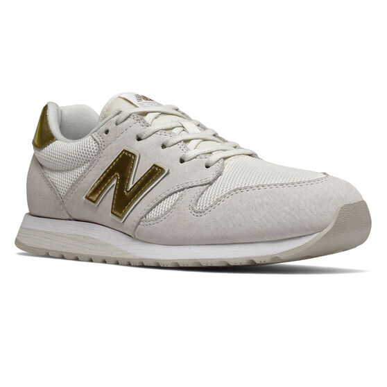 New Balance 520 Womens Casual Shoes, White/Gold, rebel_hi-res