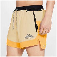 Nike Mens Dri Fit Flex Stride Trail Shorts, Yellow, rebel_hi-res