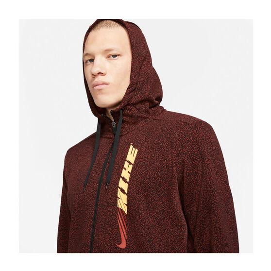 Nike Mens Sports Clash Full-Zip Training Hoodie, Red, rebel_hi-res