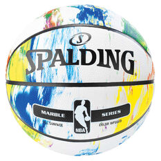 Spalding NBA Marble Basketball 7 White / Multi 7, White / Multi, rebel_hi-res