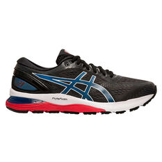 Asics GEL Nimbus 21 Mens Running Shoes Black / Blue US 7, Black / Blue, rebel_hi-res