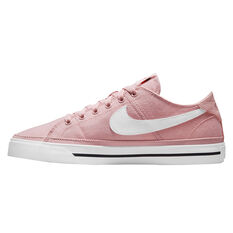 Nike Court Legacy Canvas Womens Casual Shoes Pink/White US 5, Pink/White, rebel_hi-res