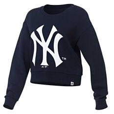 New York Yankees Womens Cropped Sweatshirt Navy XS, Navy, rebel_hi-res