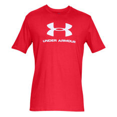 Under Armour Mens VT Sportstyle Logo Tee Red S, Red, rebel_hi-res