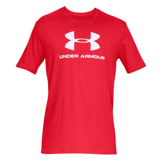 Under Armour Mens VT Sportstyle Logo Tee, Red, rebel_hi-res