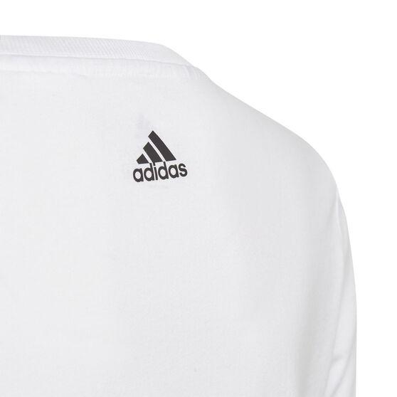 Adidas Boys Graphic Tee, White, rebel_hi-res