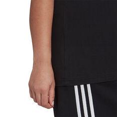 adidas Womens Essentials Logo Tee Plus, Black, rebel_hi-res
