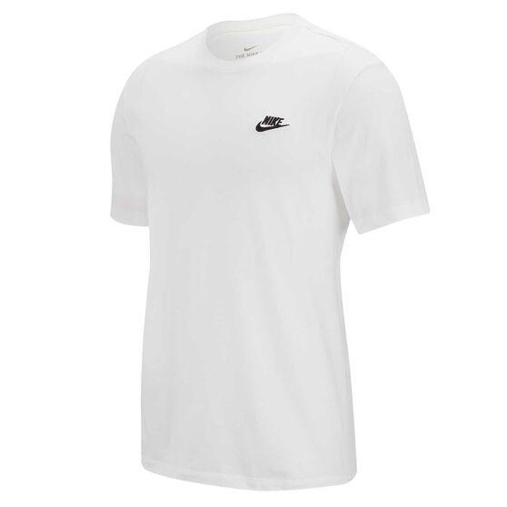 Nike Mens Sportswear Club Tee, White, rebel_hi-res
