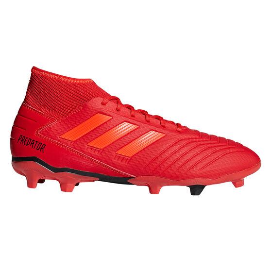 adidas Predator 19.3 Mens Football Boots, Red / Black, rebel_hi-res