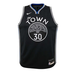 Nike Golden State Warriors Steph Curry 2020 Youth City Edition Jersey Black S, Black, rebel_hi-res
