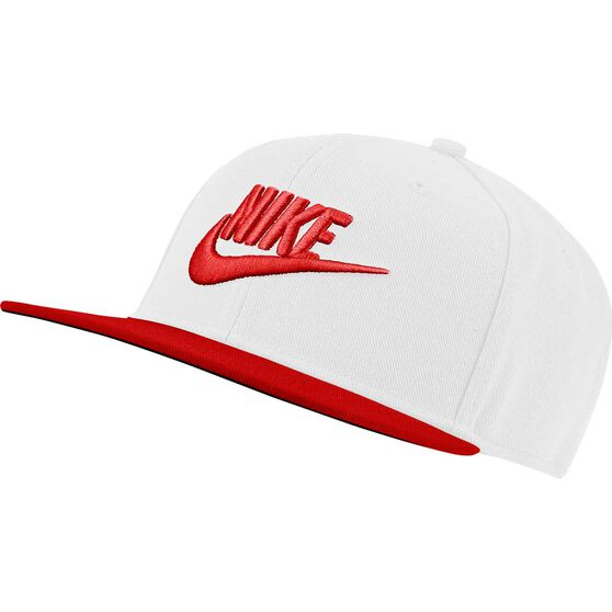 Nike Pro Boys Futura Cap White / Red OSFA, White / Red, rebel_hi-res